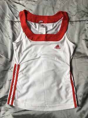 Reduced Unique Adidas ClimaCool Women's Girl's Tennis Tank Top UK Size 10 • 5£