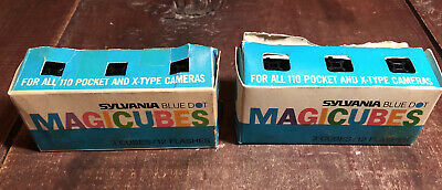 $9.99 • Buy Vintage MagiCubes Flash 3 Pack Flash Cubes For X Type & 110 Cameras Lot Of 2