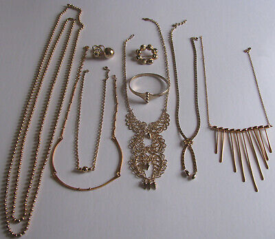 $ CDN124.99 • Buy Vintage Costume Jewelry Sarah Coventry Bracelet Necklace Ring Gold Balls 11PC