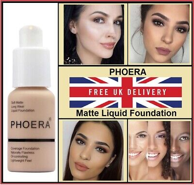 ✅ PHOERA Foundation Concealer Makeup Full Coverage Matte Brighten Long Lasting ✅ • 4.29£