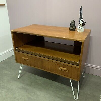 G Plan Teak Cabinet Sideboard TV Record Player Unit Hairpin Legs Delivery Availb • 215£