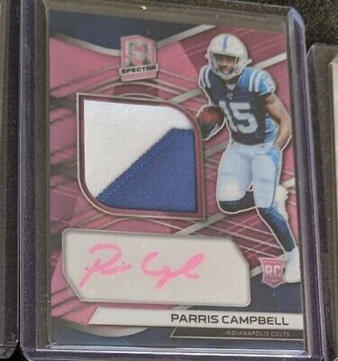 $ CDN100 • Buy Parris Campbell Rookie Lot Of 6 With Patch Auto /25 And Triple Patch /99 COLTS