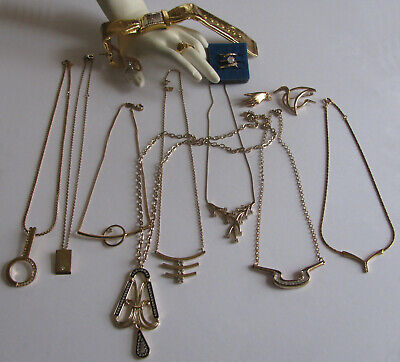 $ CDN199.99 • Buy Vintage Costume Jewelry Avon Joan Rivers Sarah Coventry Necklaces Rings 16PC Mix