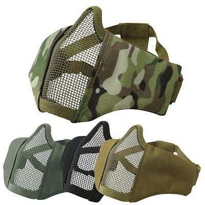$ CDN34.01 • Buy Kombat Recon Face Mask Airsoft V7 Steel Mesh 6mm Bb's Paintball Protection Army