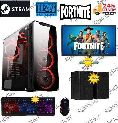 Fast Gaming PC Computer Bundle Intel Quad Core I5 16GB 1TB Win 10 2GB GT710 6FAN • 329.99£