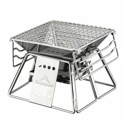 $ CDN103.63 • Buy Portable BBQ Grill Non-stick Stainless Steel Folding Barbecue Outdoor Camping