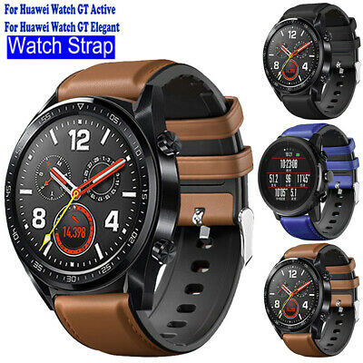 £4.69 • Buy For Huawei Watch GT/2 Pro Wrist Strap Replacement Leather & Silicone Watch Band