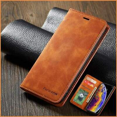 AU19.99 • Buy Leather Magnetic Flip Case Or Cover For IPhone With Wallet Card Holder