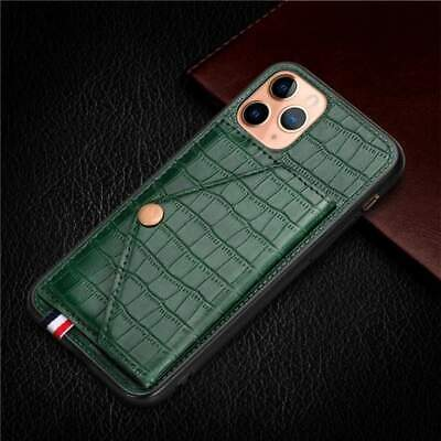 AU19.99 • Buy Luxury Magnetic Card Holder Case For IPhone With Kickstand - Leather Wallet Back