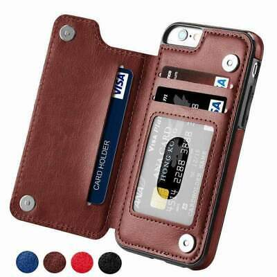 AU19.99 • Buy Luxury Slim Fit Premium Leather Cover For IPhone - With Wallet Case And Card Slo