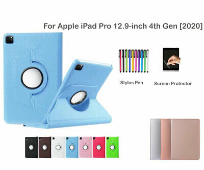 AU15.99 • Buy 360 Rotate PU Leather Case Cover For Apple IPad Pro 12.9-inch [4th Generation]