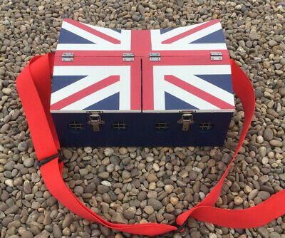 Large Double Bow Back Ferret Carry Box 2 Compartment Ferreting Rabbiting Hunting • 52£