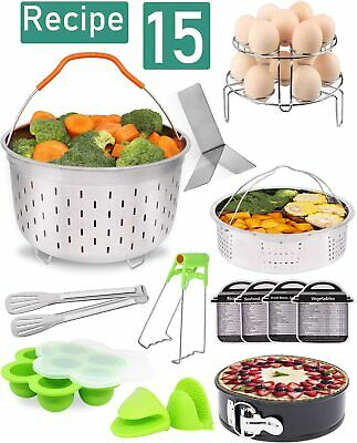 $39.99 • Buy 15-Pcs Instant Pot Accessories Instant Pot 5,6,8 Qt,Baskets,Pan,Rack,Mold,Tong..