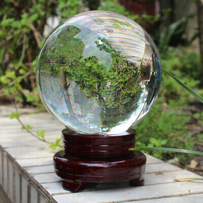 £10.99 • Buy 100mm Glass Clear Crystal Ball Magic Healing Sphere Photo Decor Prop +Stand Home