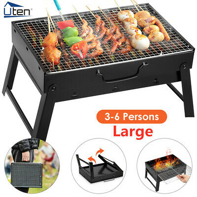 £12.59 • Buy Large Charcoal BBQ Barbecue Grill Stainless Steel Cooking Stove Garden Camping
