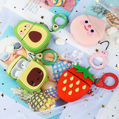 AU12.34 • Buy 3D Cute Cartoon Airpod Case Silicone Protective Cover Skin For Apple Airpods 1&2
