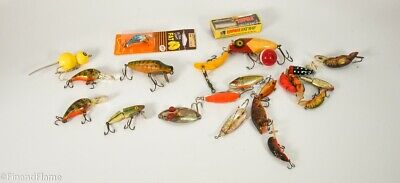 $ CDN19.69 • Buy Vintage Antique Fishing Lure Lot Spoons Lures Some In Boxes CF16