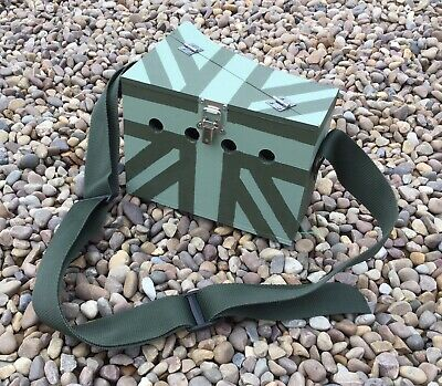 Ferret Bow Back Carry Box Lightweight Poachers Style Small Single Flag Painted • 30£