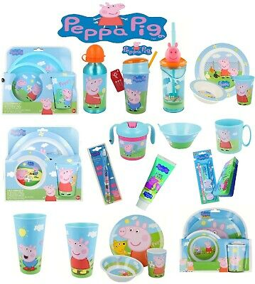 £11.98 • Buy Peppa Pig World-15 Character Items Breakfast Sets,3D Tumblers,Bottle & Many More