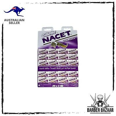 AU6.99 • Buy Gillette Nacet Stainless Double Edge Razor Blades | AUS SELLER
