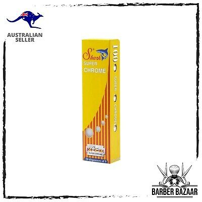 AU10.89 • Buy Shark Super Chrome Double Edge Razor Blades | AUS SELLER
