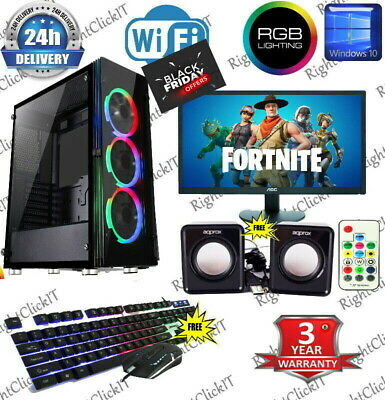 Fast Gaming PC Computer Bundle Intel Quad Core I7 16GB 1TB Win 10 GTX 1650 4GB • 519.99£