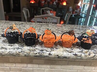 $ CDN60.90 • Buy Vintage Halloween Candy Nut Plastic Cup Lot Of 5 By BEST