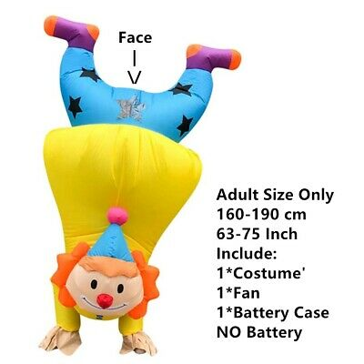 $39.99 • Buy Adult Inflatable Costume For Men Or Women Funny Clown Costume Cosplay Halloween