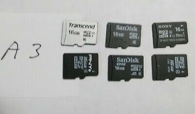 $4 • Buy Used 16GB Micro SD Cards - Lot Of 6