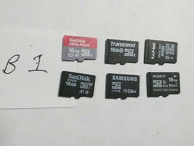 $2.64 • Buy Used 16GB Micro SD Cards - Lot Of 6