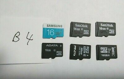 $9.51 • Buy Used 16GB Micro SD Cards - Lot Of 6