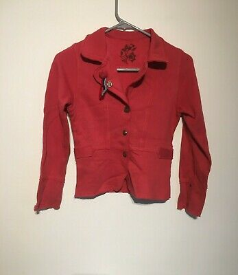 Girls MARESE Red /Jacket- Lovely Pink  Color. Size 10/worn Twice/mint • 9.99£