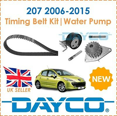 For Peugeot 207 1.4 2006-2015 Dayco Timing Belt Kit & Water Pump OE Spec New • 52.49£