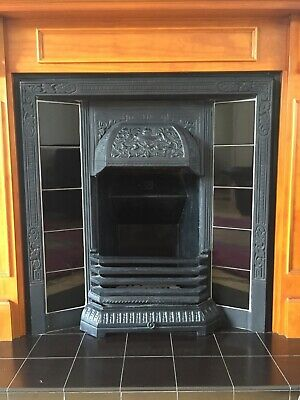 Victorian Style Reproduction Cast Iron Fireplace And Surround With Ornate Tiles • 220£