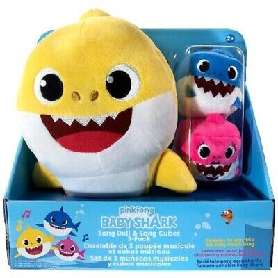 $24.99 • Buy Baby Shark Sound Song Doll And Song Cubes 3-pack Plush Doll 10