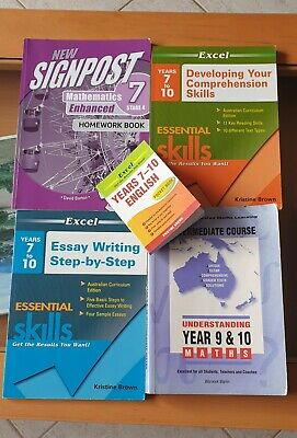 AU40 • Buy Excel English And Mathematics Year7 To Year10 5 Books
