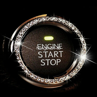 $0.99 • Buy Car Engine Start Stop Push Button Knob Key Switch Decor Bling Ring Accessories