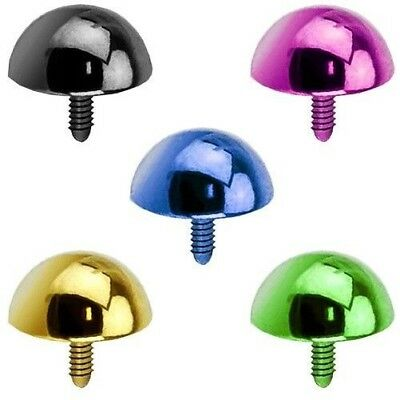 Colourful Micro Dermal Anchor Piercing Attachment Ball Half-Round Stainless • 3.15£