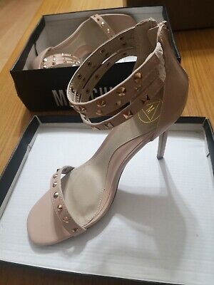 £7.99 • Buy MISSGUIDED Size 6 Blush High Heel Shoes Ladies Tripple Ankle Strap Studed .