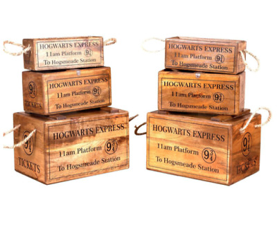 Hogwarts Express Witches And Wizardry Wood Large Toy Box Crate Harry Potter Fans • 29.99£