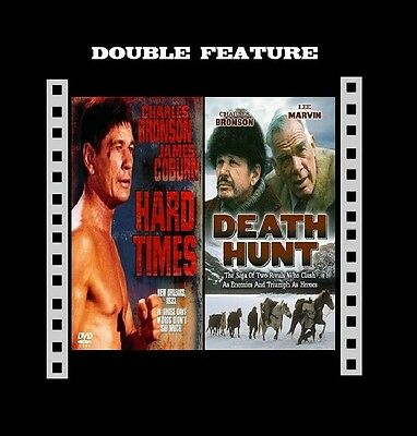 HARD TIMES + DEATH HUNT ( Charles Bronson ) Compatible In Region 2 UK On DVD New • 13.99£
