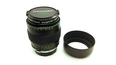 HANIMEX OM-Fit 135mm F/2.8 Prime Telephoto Lens With Caps, Filter, And Hood • 19.99£