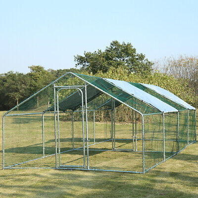 £299.95 • Buy 3M-8M Chicken Run Dog Pet Runs Poultry Whelping Pen Enclosure Walk In Coop+ Roof