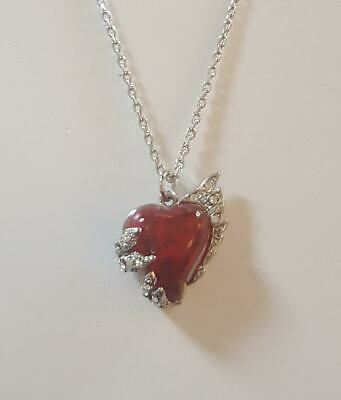 NEW 'Ruby' Heart Stardust Meteorite Necklace RRP *£35* Nickel-Free SMALL • 12.50£