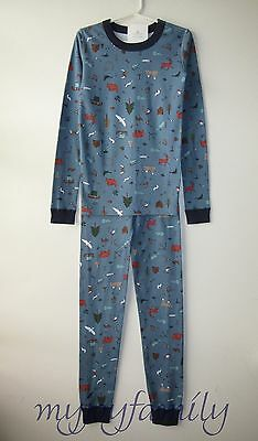 $24.95 • Buy HANNA ANDERSSON Organic Long Johns Pajamas Outdoor Adventure 150 12 NWT