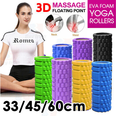 AU23.93 • Buy VIVA 60CM EVA Foam Yoga Roller Physio Gym Back Training Exercise Massage