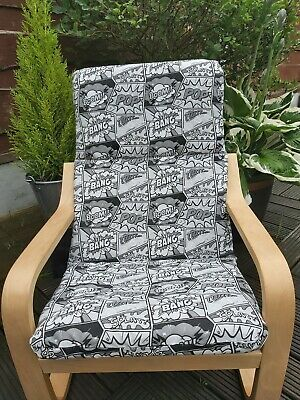 Ikea Poang Kids Chair Cover, Slipcover,children's Chair Cushion, Washable,padded • 20£