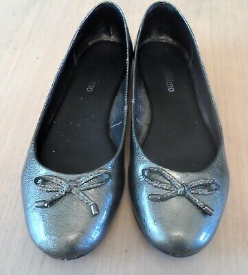 Pavers Bellissimo Metallic Pewter Soft Ballet Pumps Slip On Shoes Flats Size 6  • 2.50£