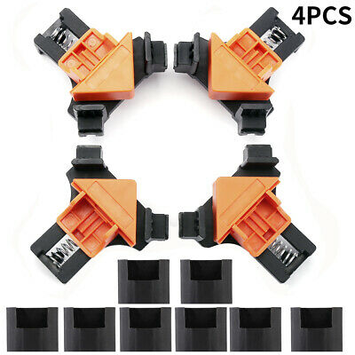 $14.99 • Buy 4Pcs/Set 90 Degree Right Angle Clip Clamps Corner Holders Woodworking Hand Tools