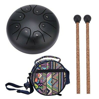 Steel Hand Drum Tongue Drum With Baton For Meditation Yoga Sound Healing Coffee • 95.99£